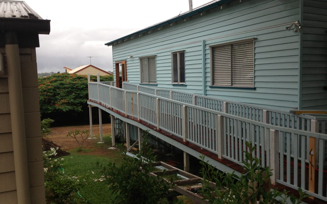 Disabled access ramp to house at Coorparoo