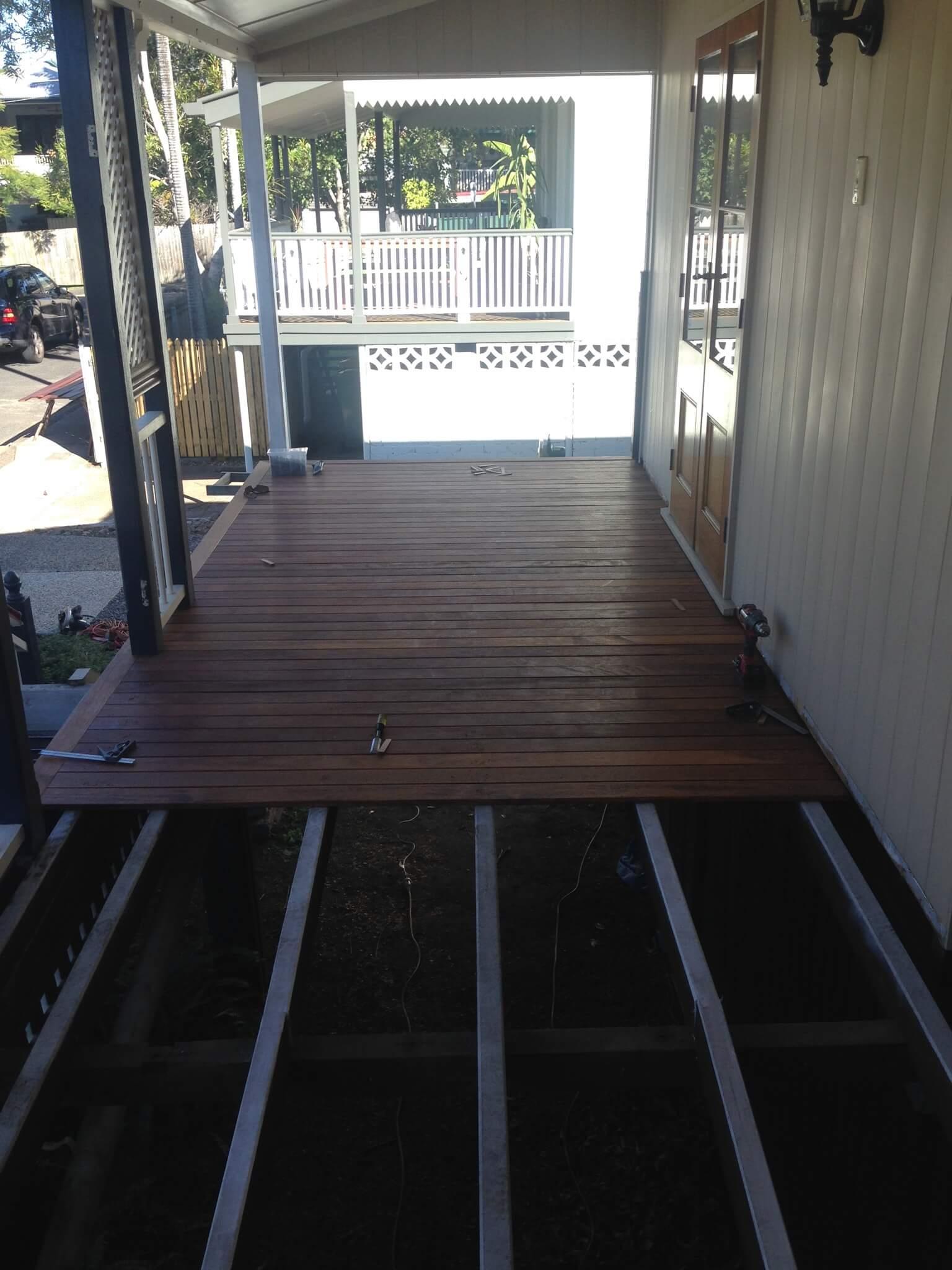 mewald building new deck in progress